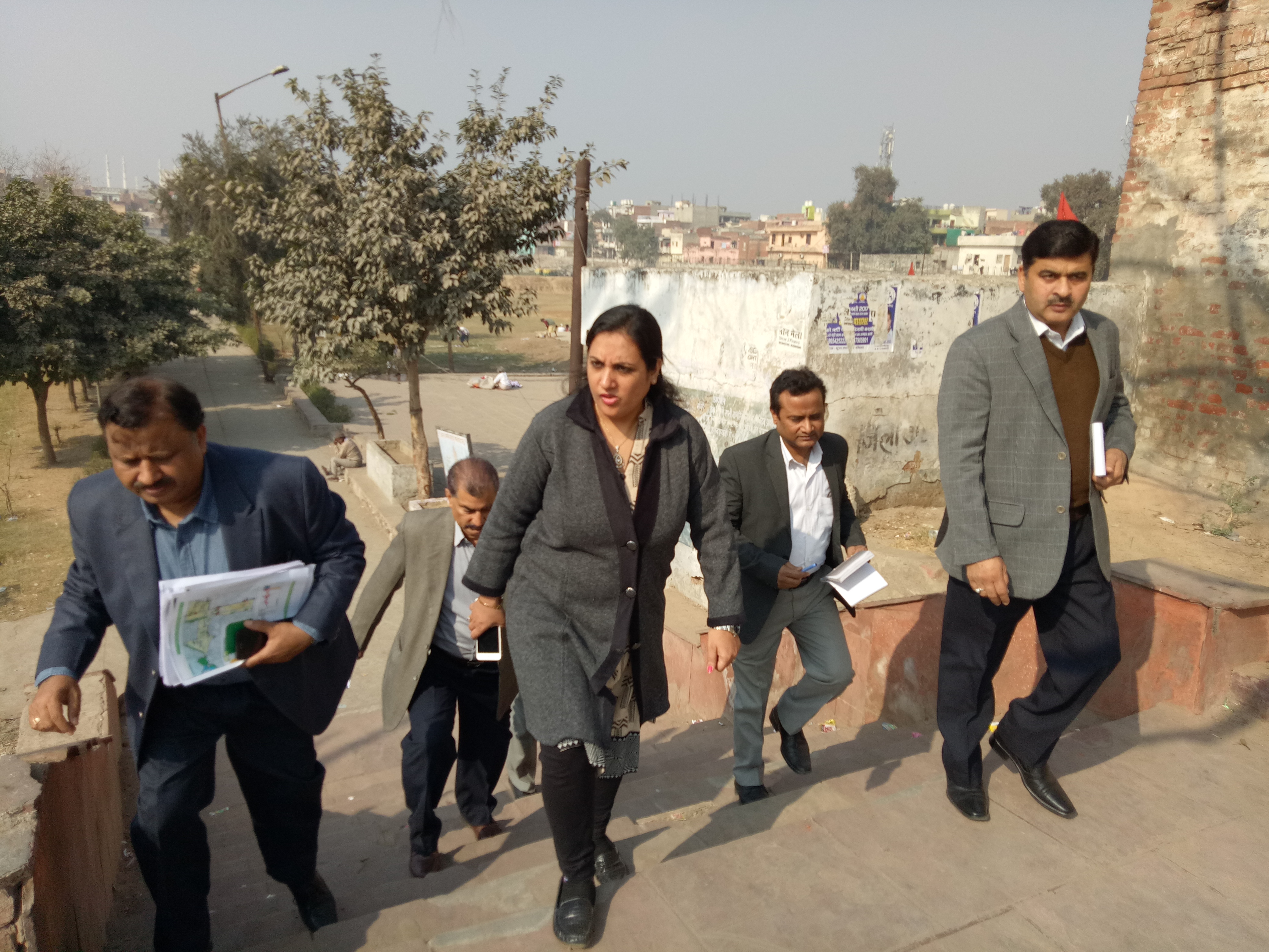 CEO alongwith team of FSCL visits ABD Area and identification of E-toilet locations