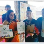 Wrestlers Babita Phogat & Geeta Phogat with Mrs. Sonal Goel, IAS was presented Smart City booklet