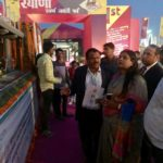 Hon'ble ULB Minister Ms.Kavitajainminister ji visited the Smart City stall & tableau at Surajkund mela