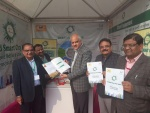 Principal Secy (ULB) Sh.Anand Mohan Sharan, IAS visited the smartcityfbd stall at 31st Surajkundmela &; also released the booklet of Smart City Faridabad.jpg